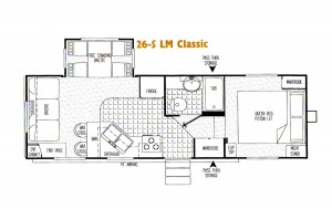 Citation 5th Wheel Floorplan