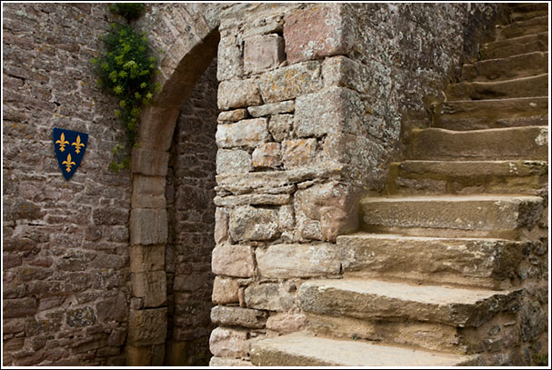 Gate and Staircase, Fort La Latte - Brittany France