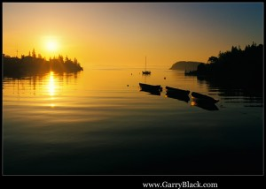 Fishing Boats at Sunrise, Northwest Cove, Nova Scotia, Canada