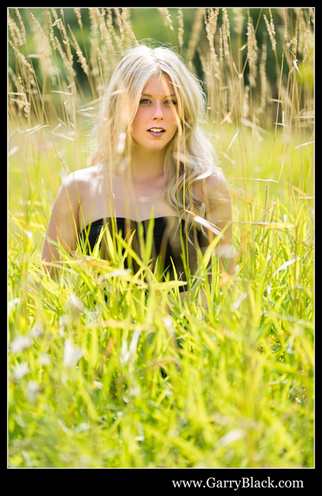 Virginie in the grass